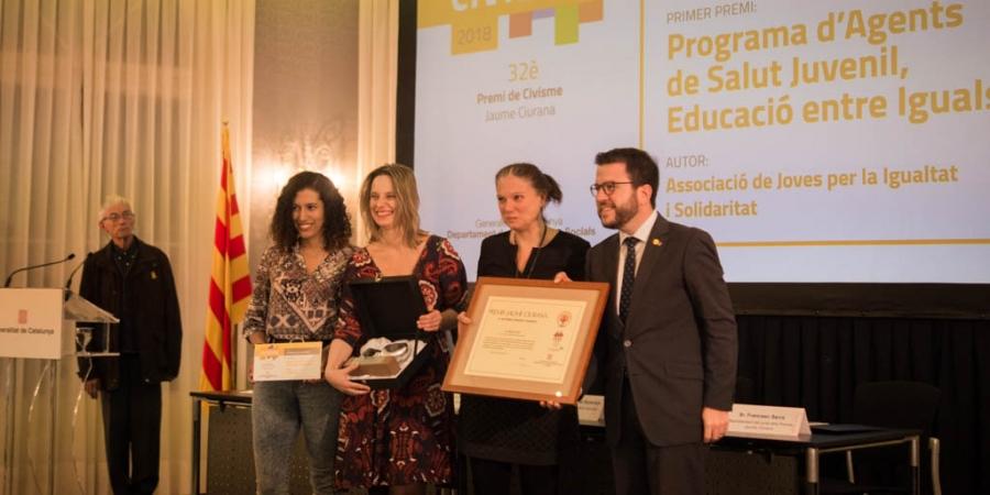 JIS Ha estat guardonada amb el primer premi Jaume Ciurana
